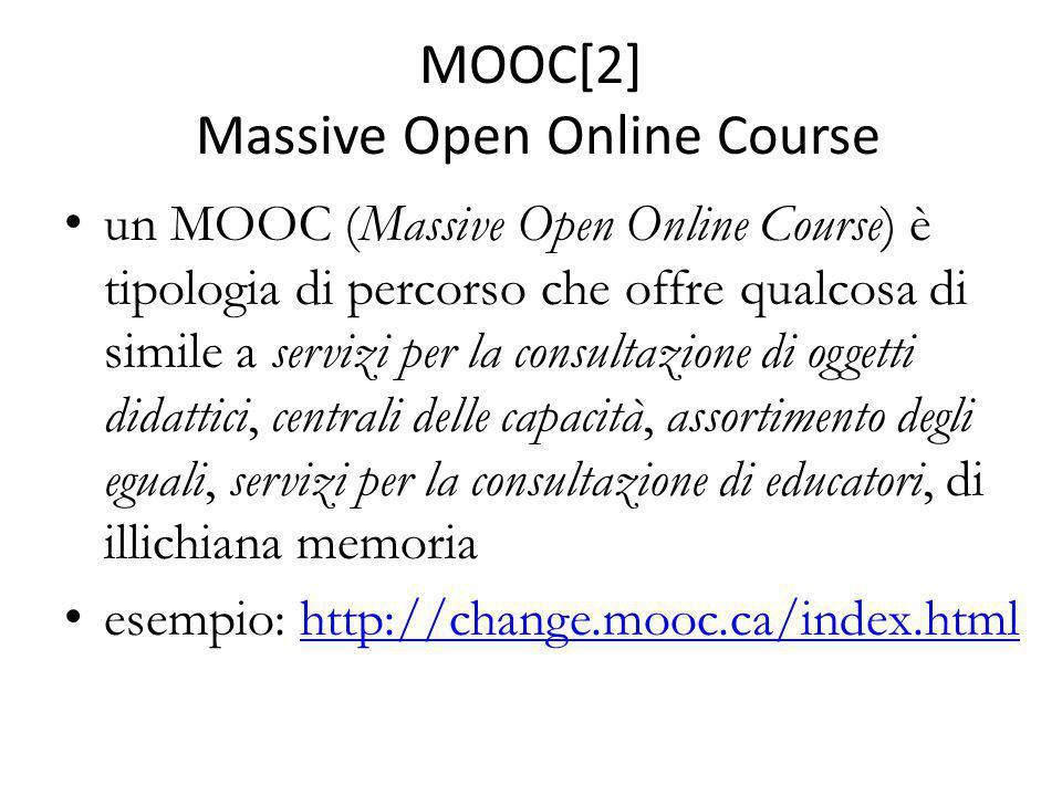 MOOC[2] Massive Open Online Course